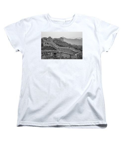 Women's T-Shirt (Standard Cut) featuring the photograph Great Wall 7, Jinshanling, 2016 by Hitendra SINKAR