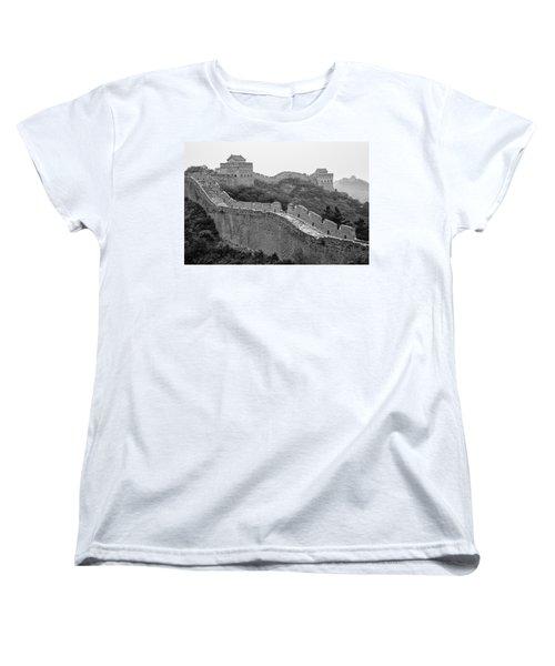 Women's T-Shirt (Standard Cut) featuring the photograph Great Wall 8, Jinshanling, 2016 by Hitendra SINKAR