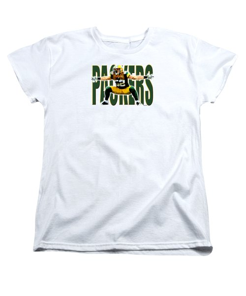 Women's T-Shirt (Standard Cut) featuring the digital art Green Bay Packers by Stephen Younts