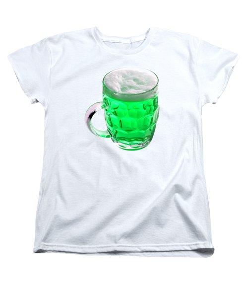 Green Beer Women's T-Shirt (Standard Cut) by Stephanie Brock