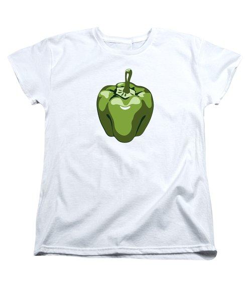 Green Bell Pepper Women's T-Shirt (Standard Cut) by MM Anderson