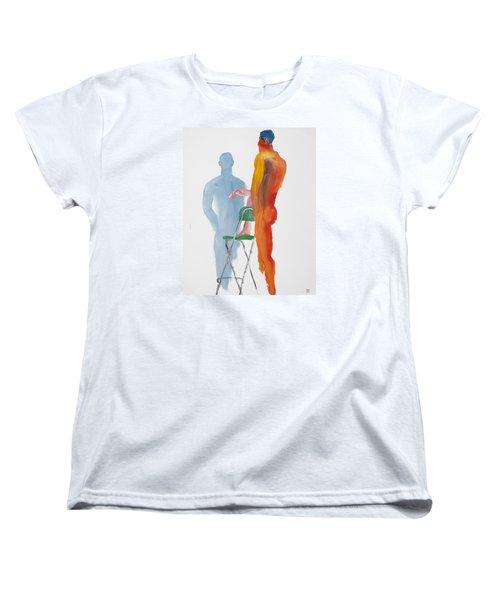 Green Chair Blue Shadow Women's T-Shirt (Standard Cut) by Shungaboy X