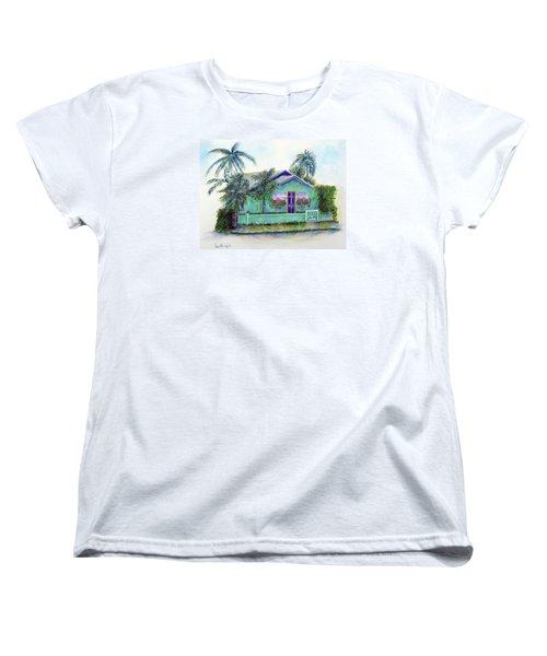 Green Cottage Women's T-Shirt (Standard Cut) by Loretta Luglio