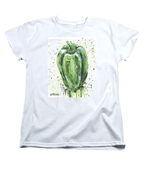 Green Pepper Women's T-Shirt (Standard Cut) by Arleana Holtzmann