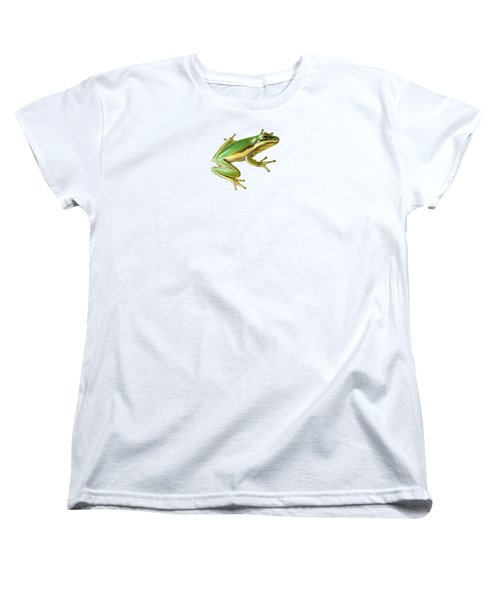 Green Tree Frog Women's T-Shirt (Standard Cut) by Sarah Batalka