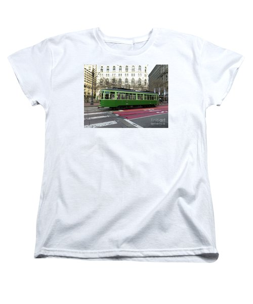 Women's T-Shirt (Standard Cut) featuring the photograph Green Trolley by Steven Spak