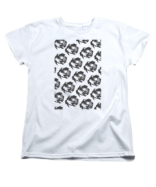 Grey Roses Women's T-Shirt (Standard Fit)
