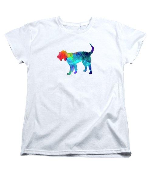 Griffon Nivernais In Watercolor Women's T-Shirt (Standard Cut) by Pablo Romero