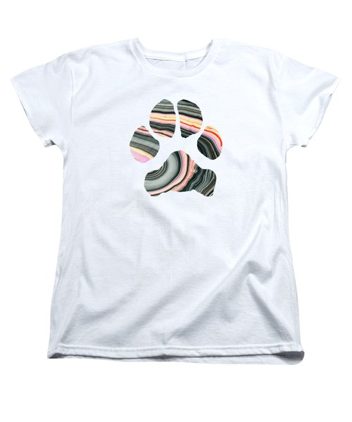 Groovy Dog Paw - Sharon Cummings  Women's T-Shirt (Standard Cut) by Sharon Cummings
