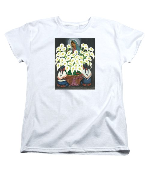 Guadalupe Visits Diego Rivera Women's T-Shirt (Standard Cut) by James Roderick
