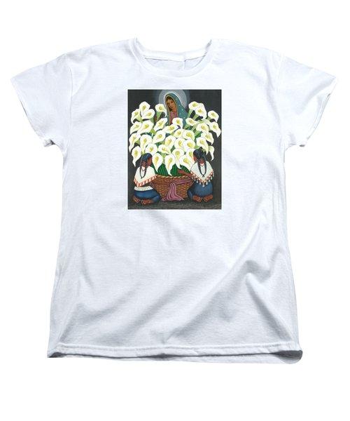 Guadalupe Visits Diego Rivera Women's T-Shirt (Standard Cut)