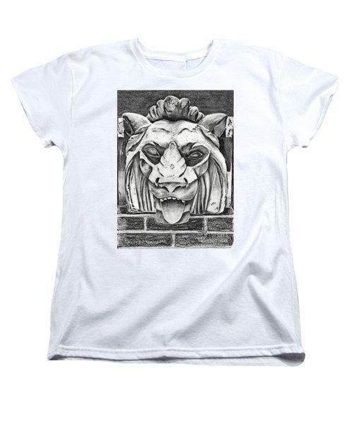 Guardian Lion Women's T-Shirt (Standard Cut) by Terri Mills