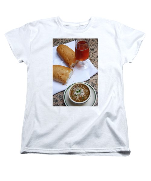 Women's T-Shirt (Standard Cut) featuring the photograph Gumbo Lunch by KG Thienemann