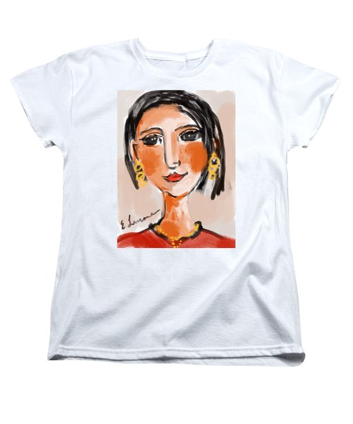 Gypsy Lady Women's T-Shirt (Standard Cut) by Elaine Lanoue