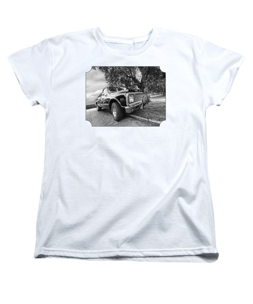 Halcyon Days - 1971 Chevy Pickup Bw Women's T-Shirt (Standard Cut) by Gill Billington