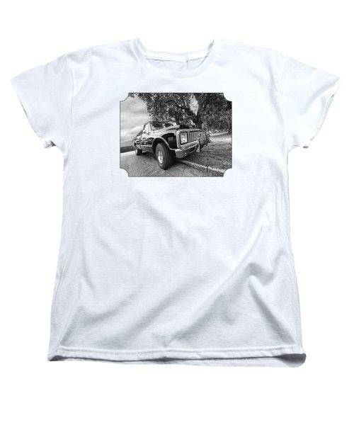 Halcyon Days - 1971 Chevy Pickup Bw Women's T-Shirt (Standard Cut)