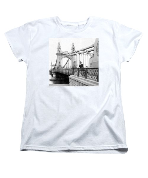 Hammersmith Bridge In London - England - C 1896 Women's T-Shirt (Standard Cut) by International  Images