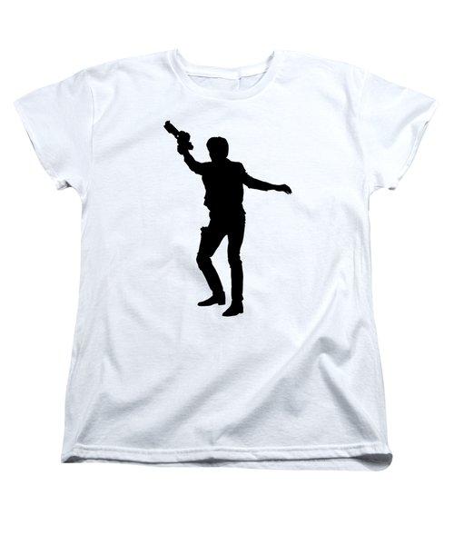 Han Solo Star Wars Tee Women's T-Shirt (Standard Cut) by Edward Fielding