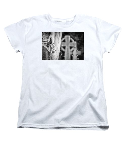 Women's T-Shirt (Standard Cut) featuring the photograph Hand And Cross by Sonny Marcyan