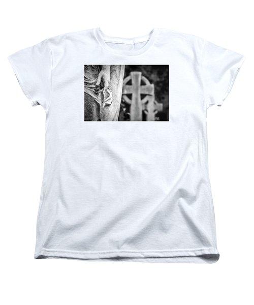 Hand And Cross Women's T-Shirt (Standard Cut) by Sonny Marcyan