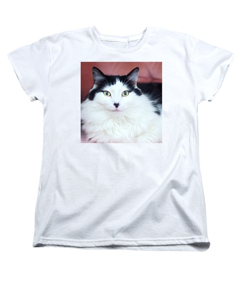 Women's T-Shirt (Standard Cut) featuring the photograph Handsome Tuxy by Byron Varvarigos