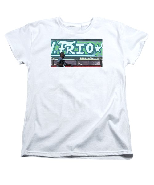 Women's T-Shirt (Standard Cut) featuring the photograph Hanging Out On Frio Street by Joe Jake Pratt