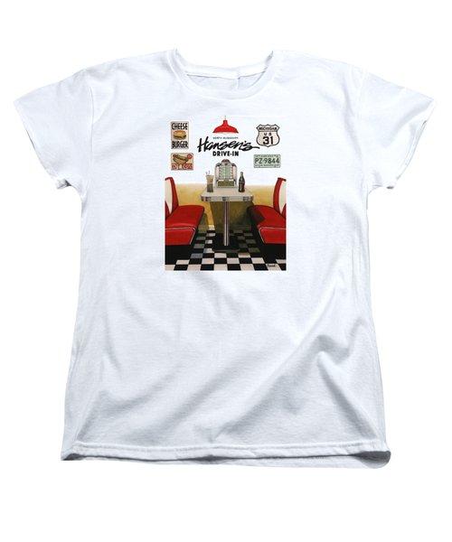 Hansen's Drive-in Women's T-Shirt (Standard Cut) by Ferrel Cordle