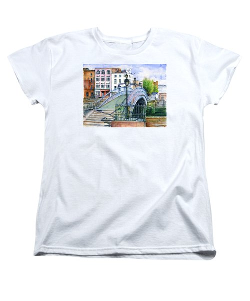 Ha'penny Bridge Dublin Women's T-Shirt (Standard Cut) by John D Benson