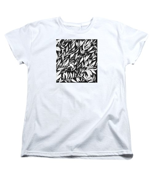 Women's T-Shirt (Standard Cut) featuring the painting Happy Berries by Lou Belcher