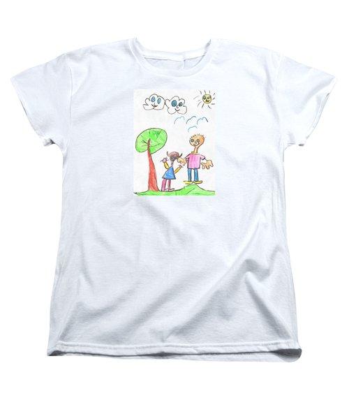 Happy Faces Women's T-Shirt (Standard Cut)