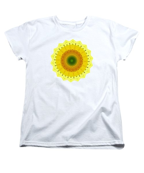 Happy Sunflower Mandala By Kaye Menner Women's T-Shirt (Standard Fit)