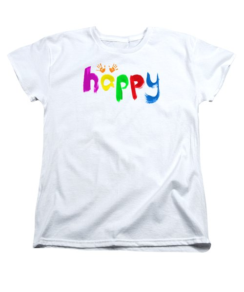 Women's T-Shirt (Standard Cut) featuring the photograph Happy by Tim Gainey