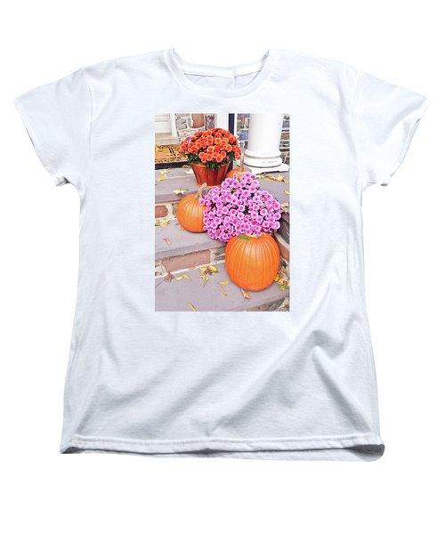 Women's T-Shirt (Standard Cut) featuring the photograph Happy Thanksgiving by Ann Murphy