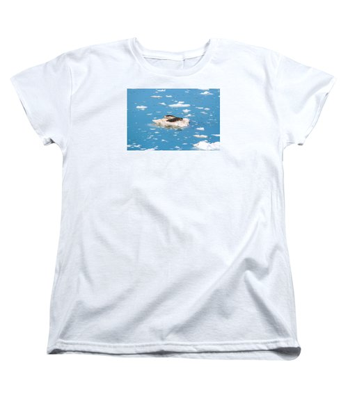 Harbor Seals On Clouds Of Ice Women's T-Shirt (Standard Cut) by Allan Levin