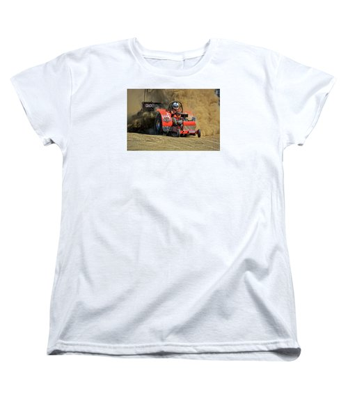 Hard Drive Pulling Tractor Women's T-Shirt (Standard Cut) by Mike Martin