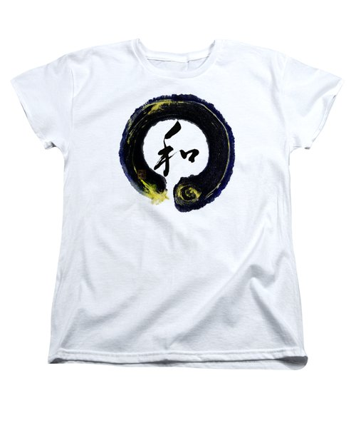 Harmony - Peace With Enso Women's T-Shirt (Standard Cut) by Peter v Quenter