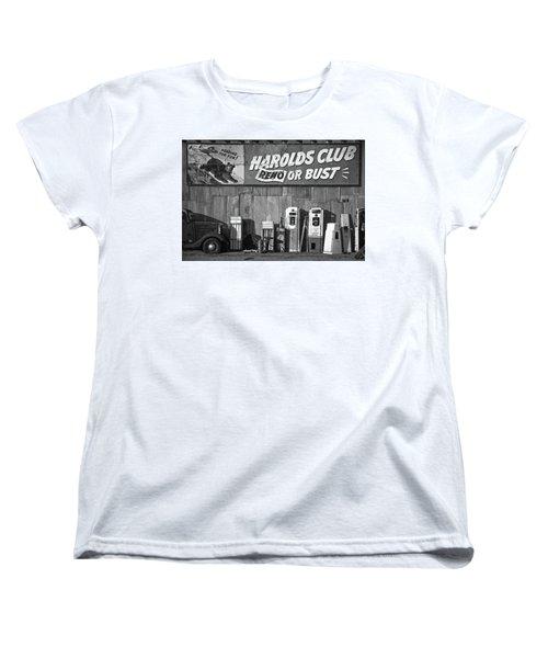 Harold's Club Women's T-Shirt (Standard Cut) by Marius Sipa