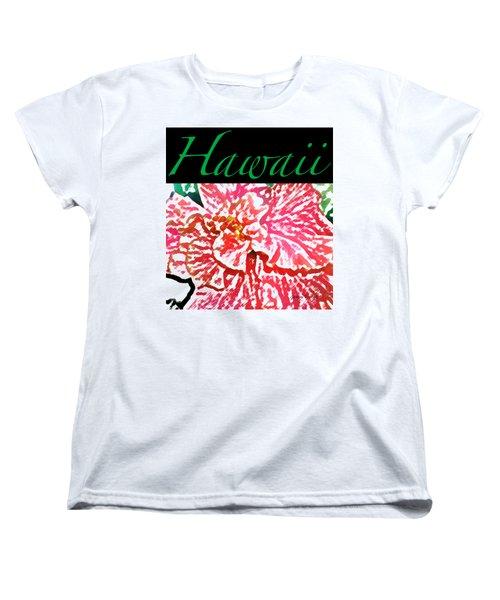 Hawaii Blush T-shirt Women's T-Shirt (Standard Cut) by James Temple