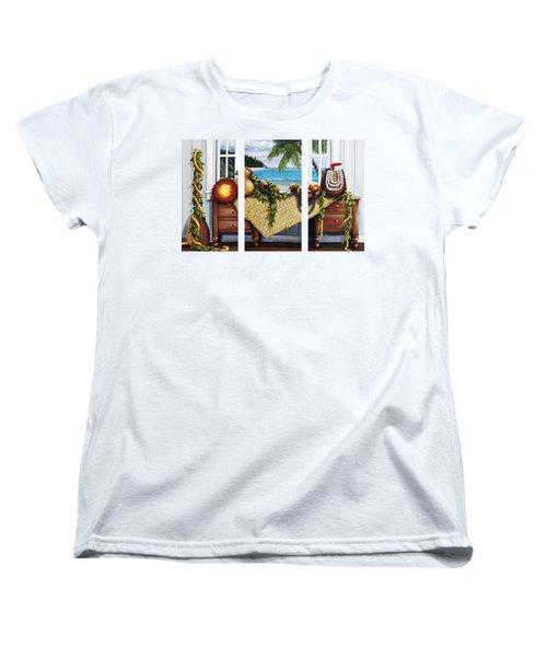 Hawaiian Still Life With Haleiwa On My Mind Women's T-Shirt (Standard Cut) by Sandra Blazel - Printscapes
