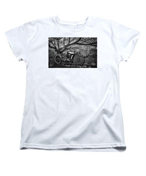 Women's T-Shirt (Standard Cut) featuring the photograph Hd Cafe Racer  by Louis Ferreira