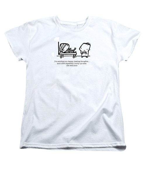Women's T-Shirt (Standard Cut) featuring the drawing Healing Thoughts by Leanne Wilkes