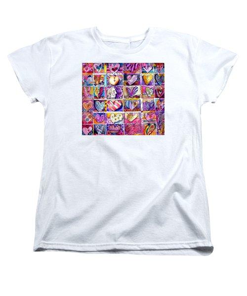 Heart 2 Heart Women's T-Shirt (Standard Cut) by Mindy Newman