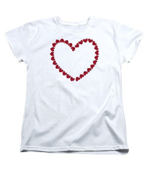 Heart From Red Hearts Women's T-Shirt (Standard Cut) by Frank Tschakert