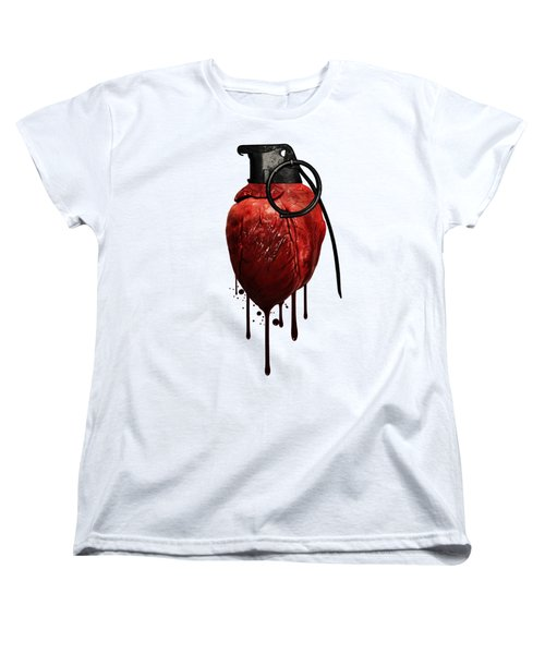 Heart Grenade Women's T-Shirt (Standard Cut) by Nicklas Gustafsson