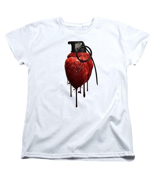 Heart Grenade Women's T-Shirt (Standard Fit)
