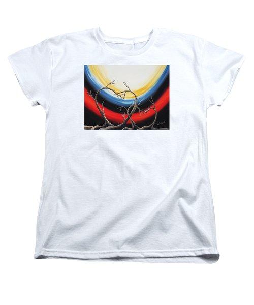 Hearts Women's T-Shirt (Standard Cut) by Edwin Alverio