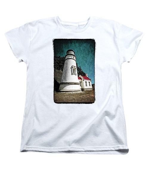 Hecitia Head Lighthouse Women's T-Shirt (Standard Cut) by Jeffrey Jensen
