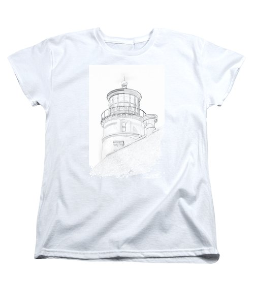 Hecitia Head Lighthouse Sketch Women's T-Shirt (Standard Cut)