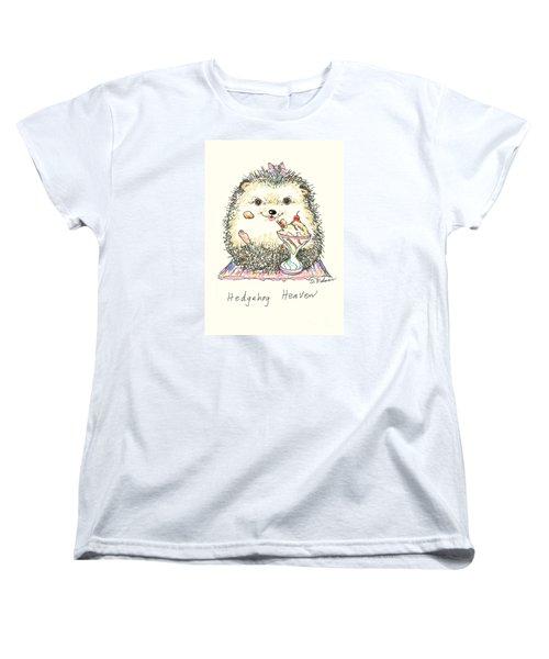 Hedgehog Heaven Women's T-Shirt (Standard Cut) by Denise Fulmer