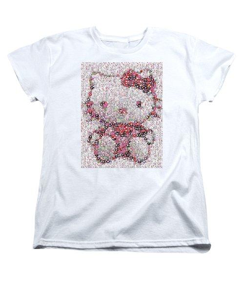 Hello Kitty Button Mosaic Women's T-Shirt (Standard Cut) by Paul Van Scott
